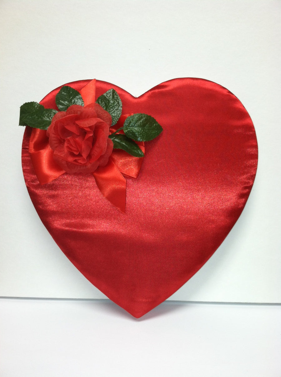 Silk Red Rose Box Box