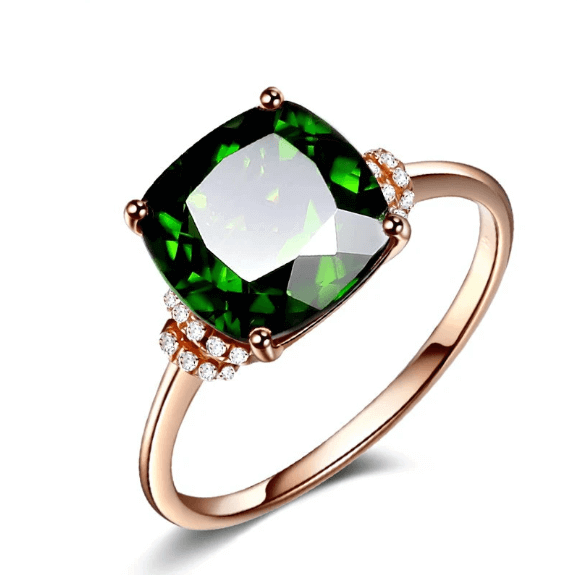 Emerald Crystal Fashion Ring