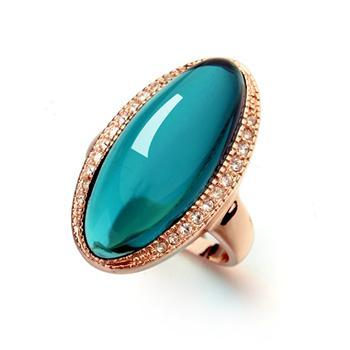 Royal Turquoise Austrian Ring