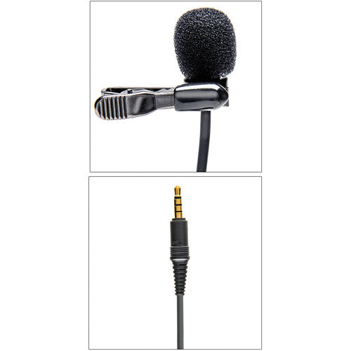 Azden Pro studio lapel mic w/ TRRS plug for iOS & Android