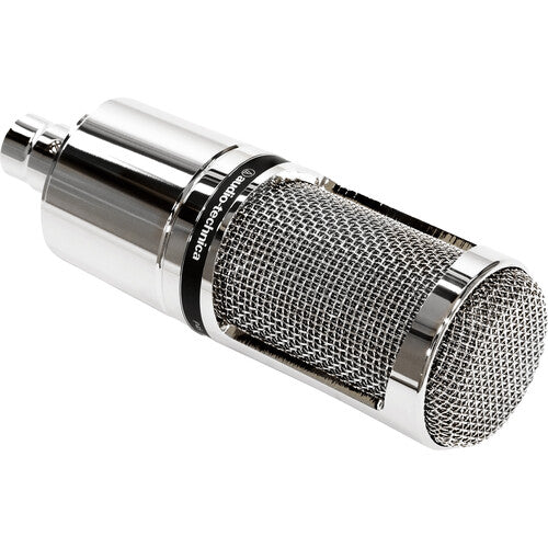 Audio-Technica AT2020V Cardioid Condenser Studio XLR Microphone - Ideal for Project/Home Studio - Limited Edition Chrome