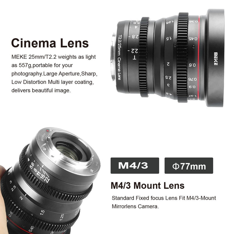 Meike Cinema Prime 25mm T2.2 Fuji X