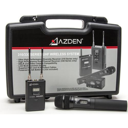 Azden 310HT Camera-Mount Wireless Handheld Microphone System (566.125 to 589.875 MHz)