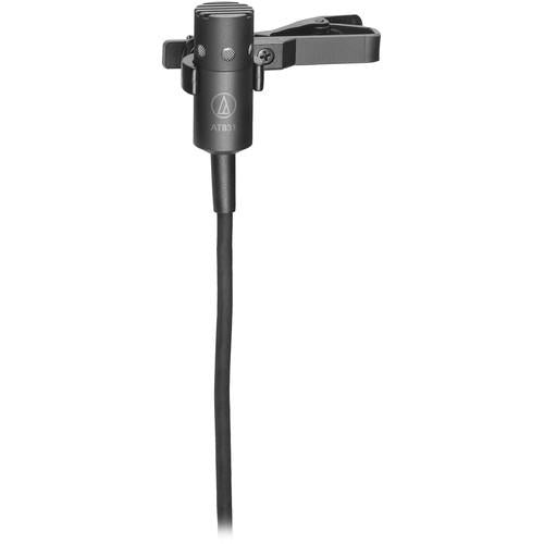 Audio-Technica AT831cH Cardioid Condenser Lavalier Mic for cH-Style Body-Pack Transmitters - Black