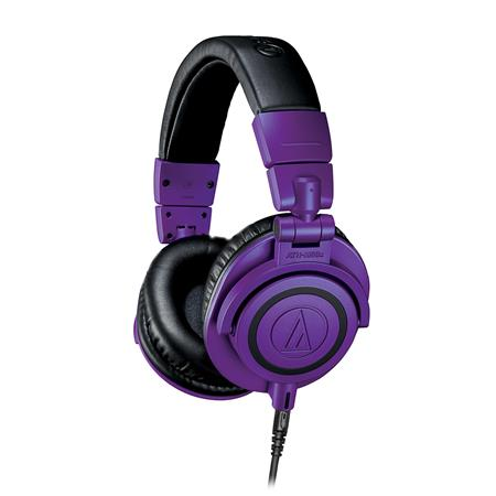 Audio-Technica ATH-M50xPB LIMITED EDITION Professional Monitor Headphones - Purple and Black