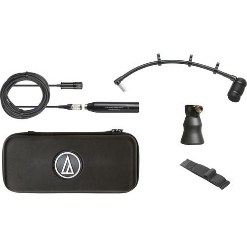 Audio Technica ATM350PL Cardioid Condenser Instrument Microphone with Piano Mounting System (9 Inch Gooseneck)