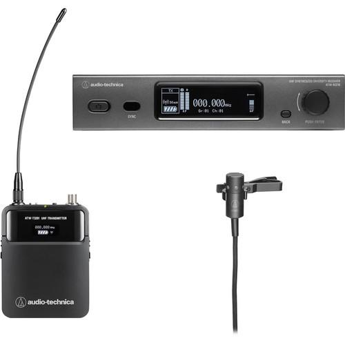 Audio Technica ATW-3211/831DE2 Wireless System R3210 Receiver T3201 Body-Pack Transmitter w/ AT831cH Lav Mic 470-530 MHz