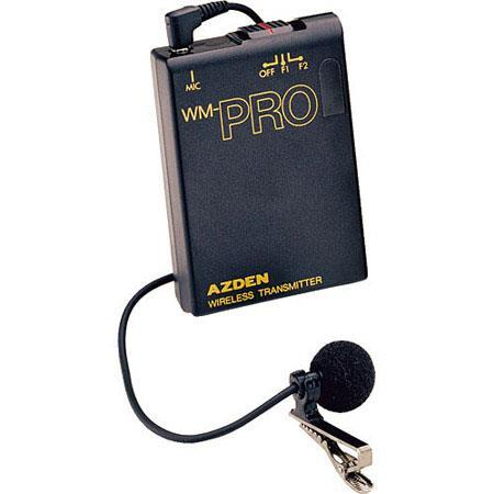 Azden WLT/PRO VHF Wireless Bodypack Transmitter with Omni Lavalier Mic (169 & 170 MHz)