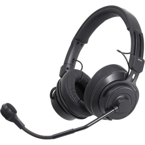 Audio-Technica BPHS2-UT Broadcast Stereo Headset with Hypercardioid Condenser Boom Microphone - Unterminated