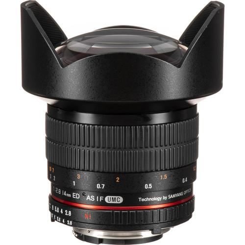 Rokinon 14mm f/2.8 IF ED UMC Lens For Nikon with AE Chip