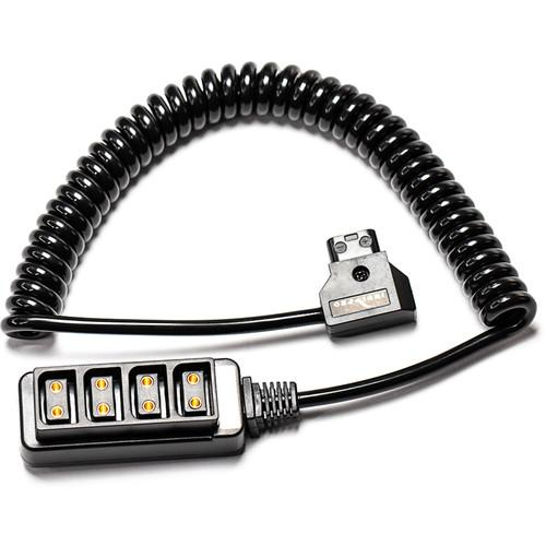 "Indipro Coiled 4-Way D-Tap Splitter Cable Converter (24-36"", Non-Regulated)"