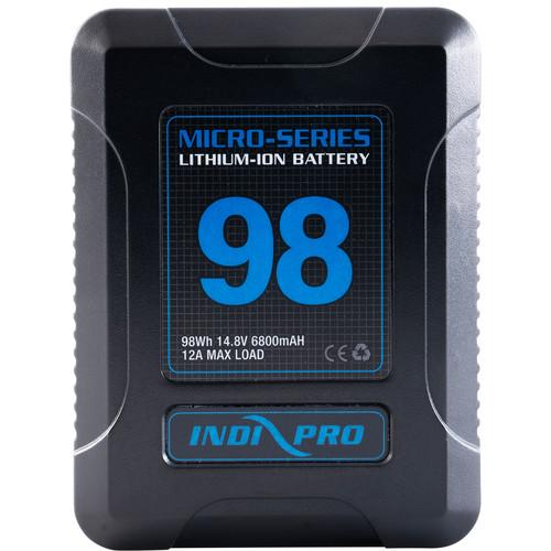 Indipro Micro-Series 98Wh Li-Ion V-Mount Battery and D-Tap Pro Charger (2.5A) Kit
