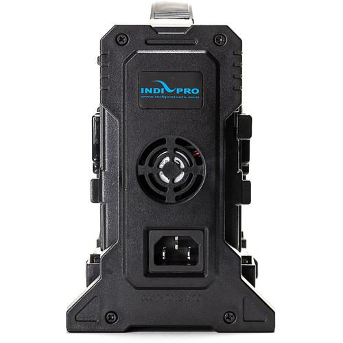 Indipro Quad V-Mount Battery Charger with XLR Output