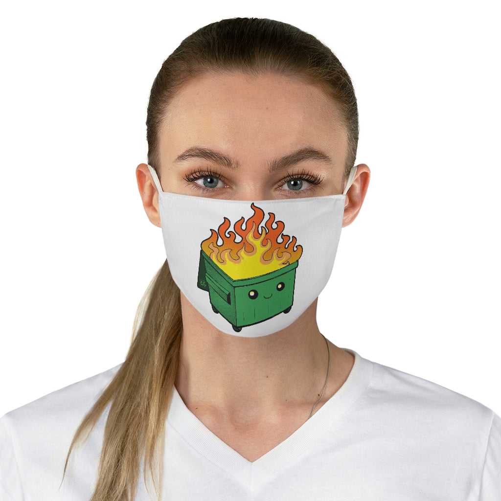 Dumpster Fire face mask