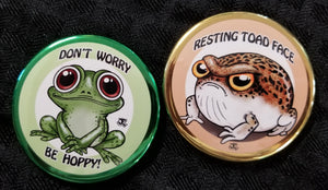 Toad and frog magnet set