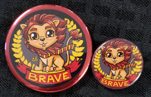 Lion Pride Magnet and Button set