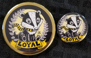 Badger pride!  Magnet and Button set
