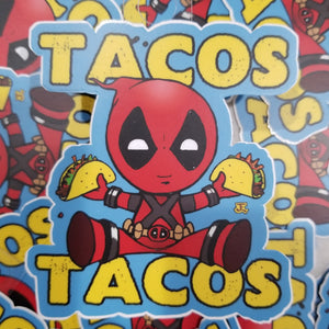For the Love of Tacos vinyl sticker