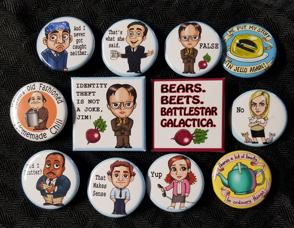 Office work buttons set!