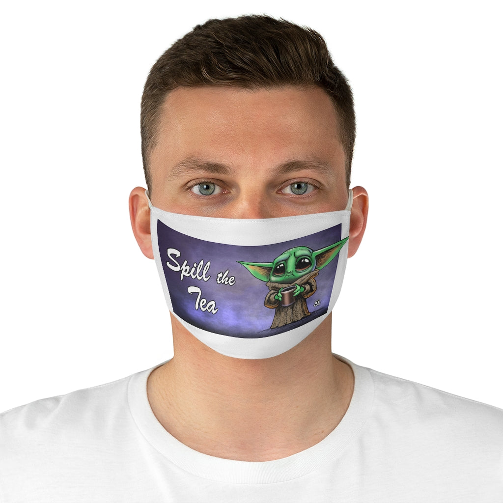 Spill the Tea Star Child Fabric Face Mask