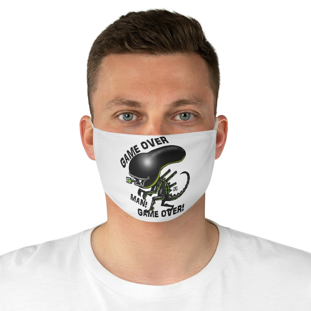 Alien Doomed Fabric Face Mask