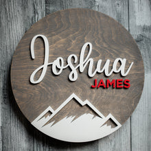 Load image into Gallery viewer, Personalized Mountain Wall Sign