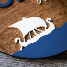 Load image into Gallery viewer, Personalized Viking Ship Wall Sign