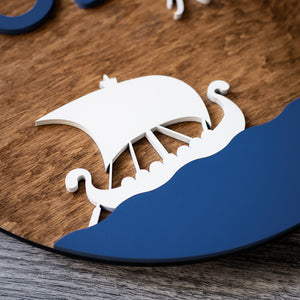 Personalized Viking Ship Wall Sign