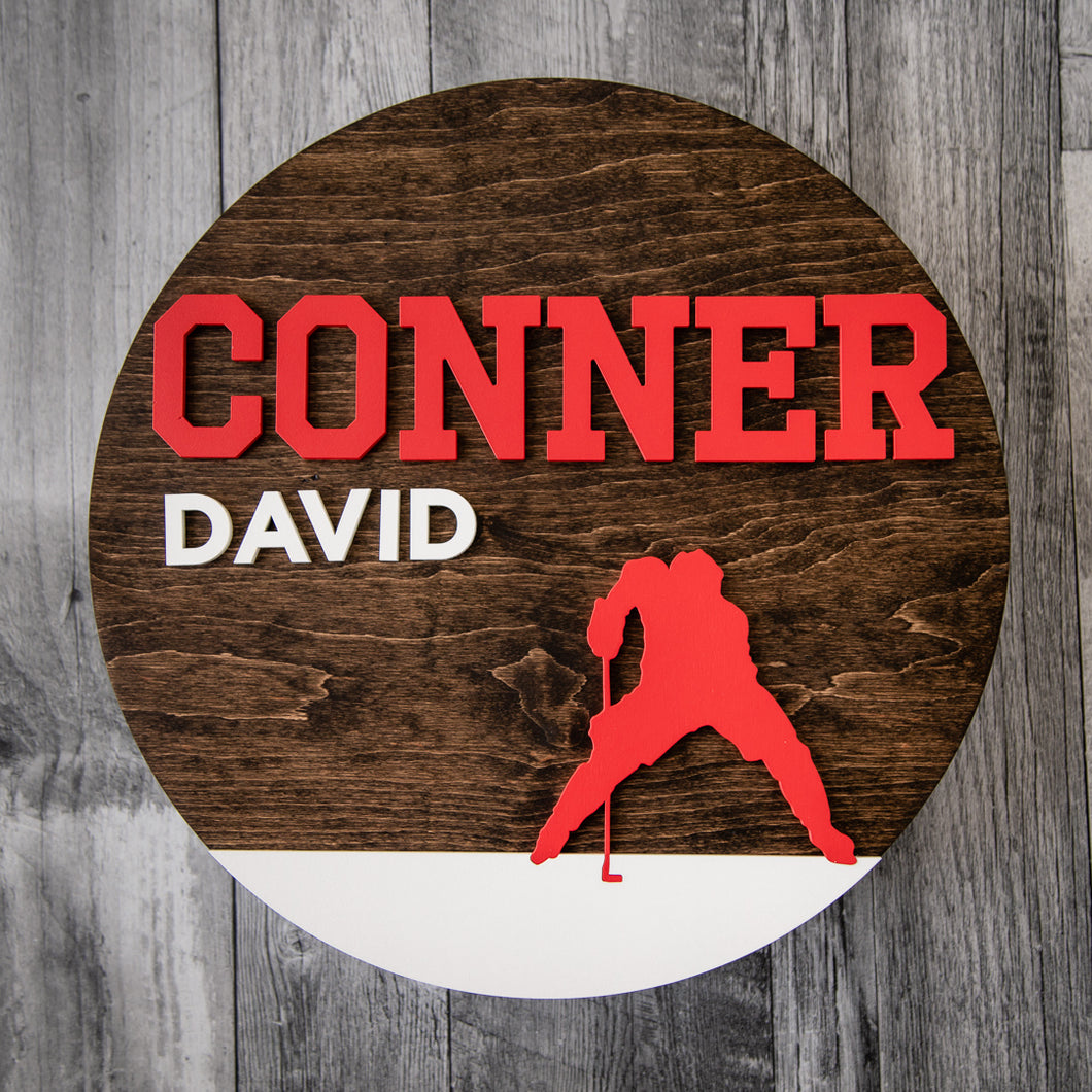 Personalized Hockey Wall Sign