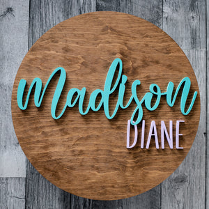 Personalized Round Name Board