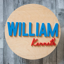 Load image into Gallery viewer, Round Name Sign - Walnut