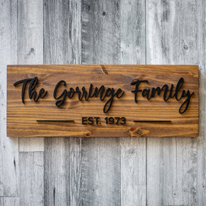 Family Name Board