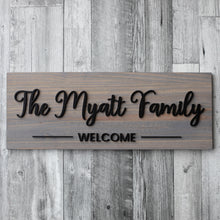Load image into Gallery viewer, Family Name Board
