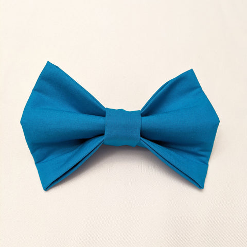 Large Dog Bowtie - Solid Teal