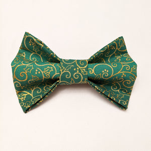 Large Dog Bowtie - Holiday Green