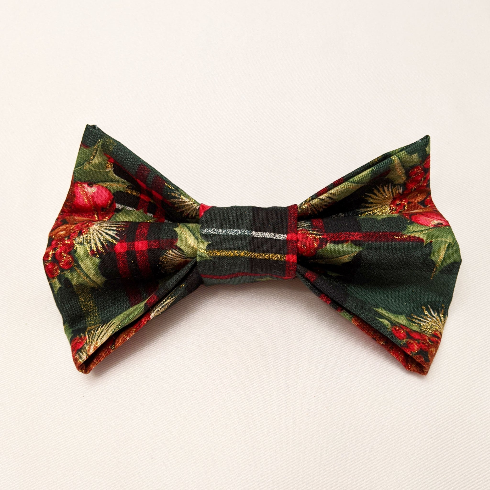 Large Dog Bowtie - Holiday Holly