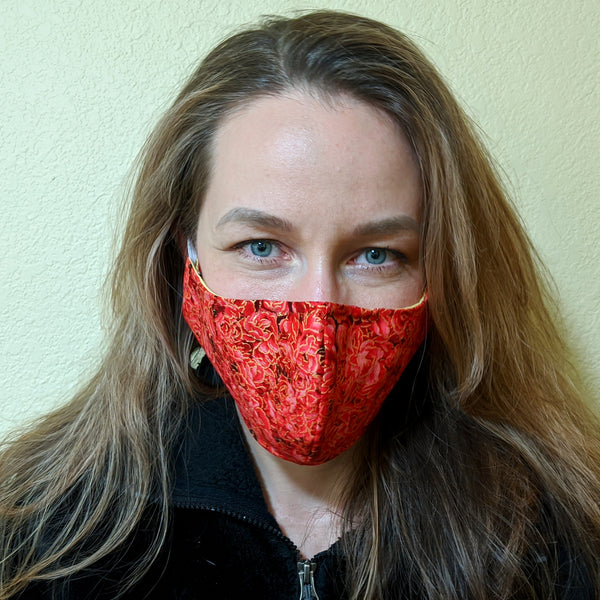 "Face Mask ""Red Roses"""