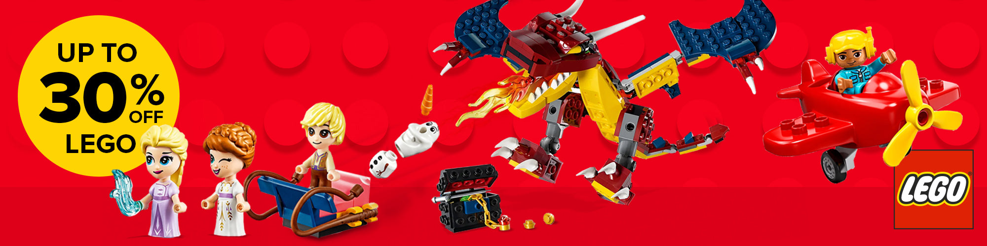 Lego up to 30% off