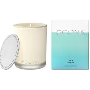 Ecoya madison lotus flower candle 400g