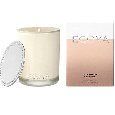 Ecoya madison cedarwood leather candle 400g