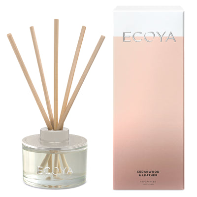 Ecoya reed cedarwood and leather mini diffuser 50ml