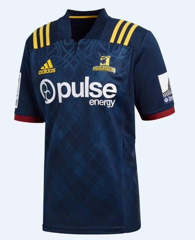Highlanders Home Jersey 2018 Mens - Navy/Yellow