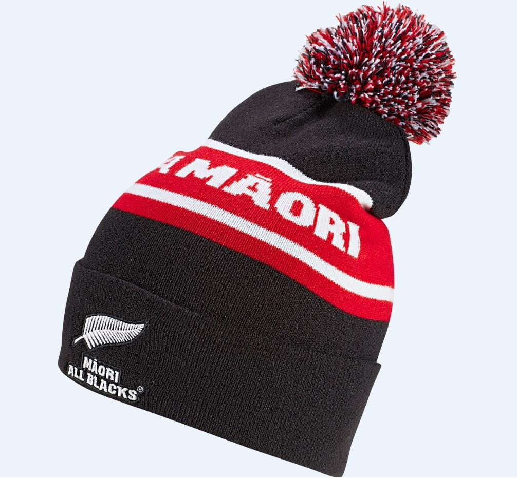 All Blacks Maori Woolie Beanie - Black/Red/Multi