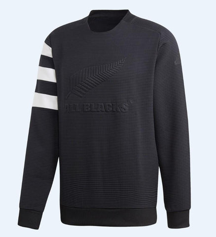 ALL BLACKS CREW SWEATSHIRT - BLACK/WHITE
