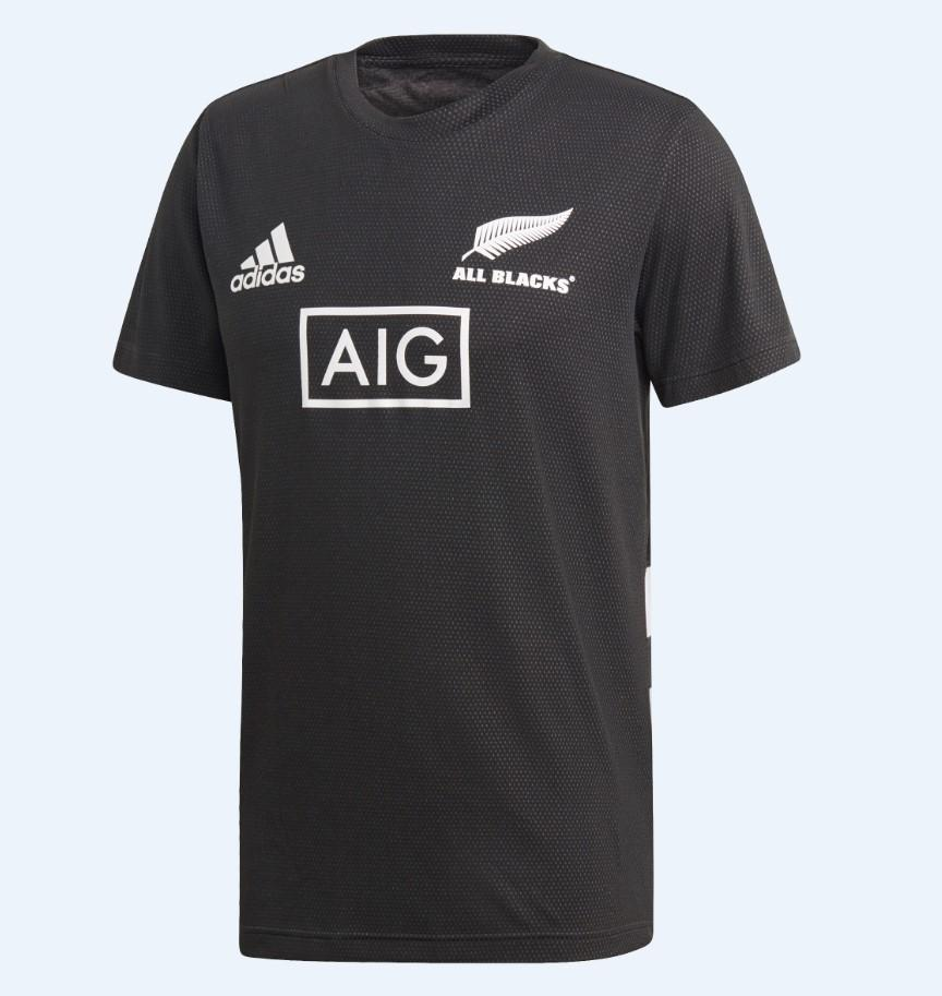 All Blacks Performance Tee Mens - Black/White