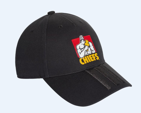 Chiefs 3 Stripe Cap - Black