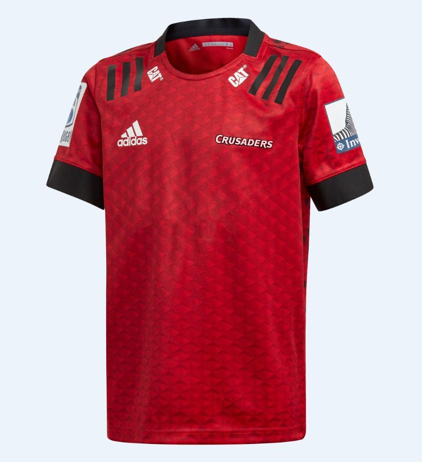 Crusaders Home Jersey 11-12Yo - Scarlet