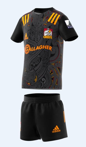 CHIEFS MINI KIT 3-4YO - BLACK