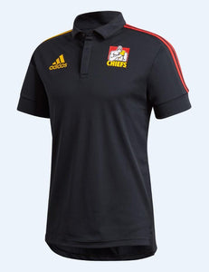 Chiefs Polo Shirt L - Black/Gold/Scarlet