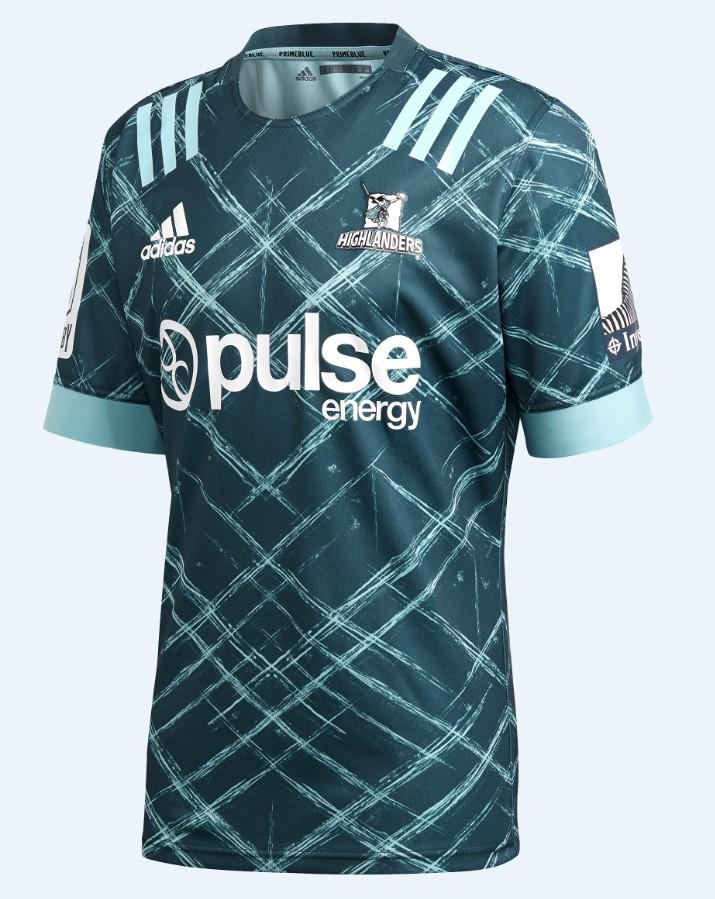 HIGHLANDERS PRIMEBLUE AWAY JERSEY - Blue Spirit/Chill Vista Grey